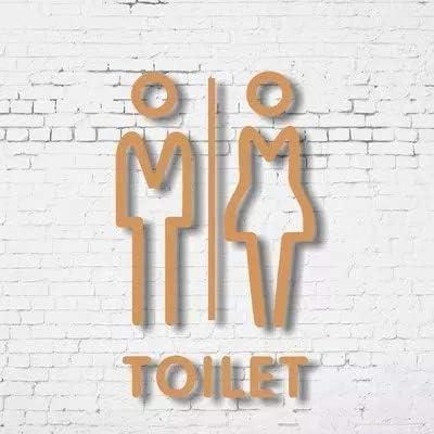 2/WC Sign Toilet Women /& Toilet Men Retro Tin Signs 3D Toilet Sign