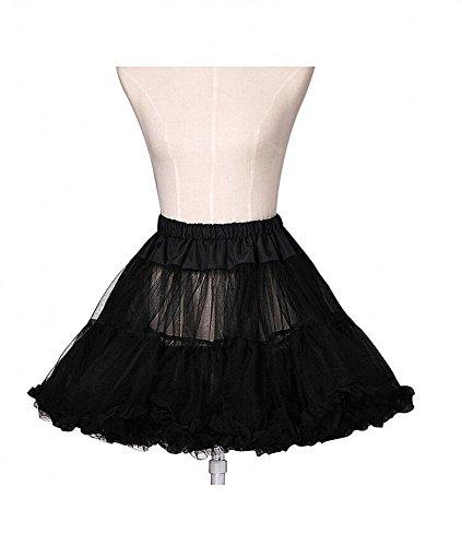 Sweetdresses Women's A-Line Muiti-Color Short Petticoat Crinoline (Small/Medium, Black)