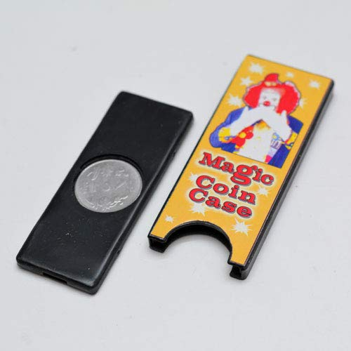 MilesMagic Magician's Coin Slide Plus Gimmick for Coin Vanishing & Production Magic Trick