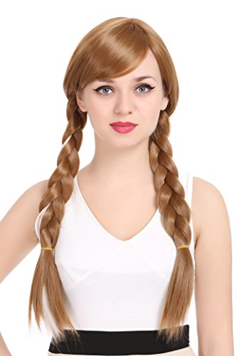ZUUC Costume Cosplay Wig (Brown Anna -
