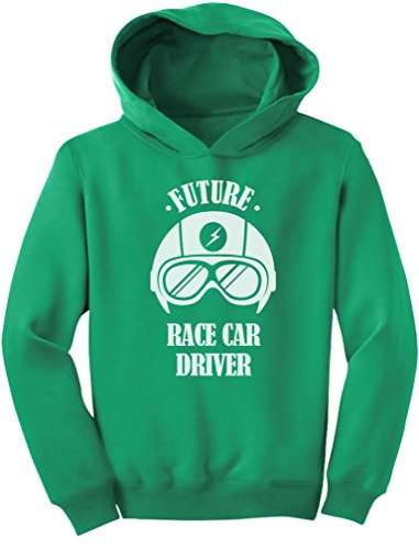 - Tstars Future Race Car Driver - Cool Children's Clothing Funny Toddler Hoodie 4T Green