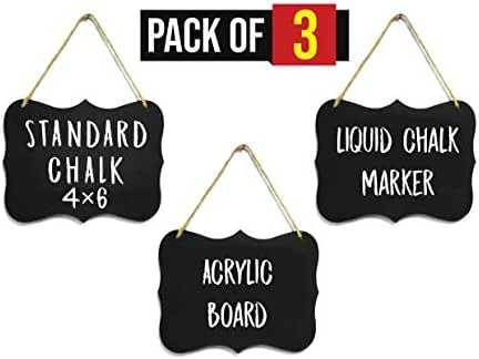 Mini Hanging Acrylic Chalkboard Signs 4x6