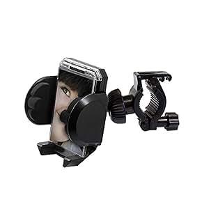 handy-point 360 grados giratorio UNIVERSAL 50-116mm Soporte para la bicicleta, Negro para Smartphone, Teléfono móvil, MP4, GPS con marco para la foto
