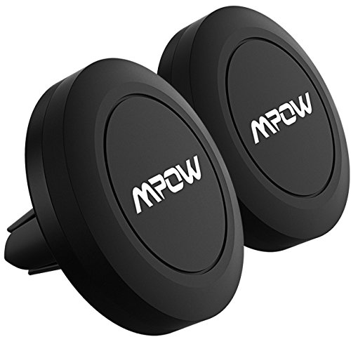 [2 Packs] Magnetic car mount,Mpow Air Vent Car Mount Magnetic Cell Phone Car Mount Universal Phone Mount Holder Car Cradle for iPhone 8/8Plus/7/7Plus/6s/6/6 Plus, Samsung Galaxy a5/note 8/S8 Plus/S7/S6 Edge/S6/S5 LG Huawei and Other Smartphones - Black