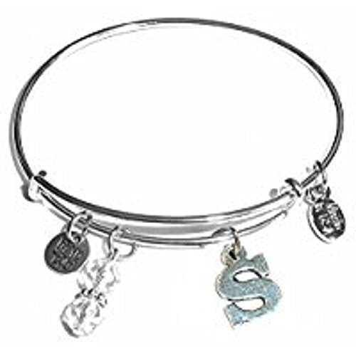 Hidden Hollow Beads Initial Expandable Wire Womens Bangle Bracelet, in The Popular Style, Comes in a Gift Box!!