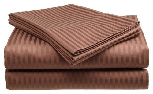 Millenium Linen Queen Size Bed Sheet Set - Coffee - 1600 Ser