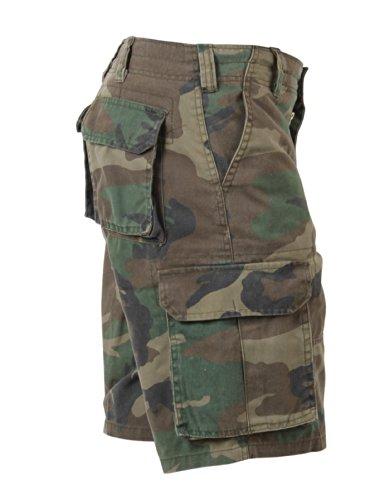 Vintage Paratrooper Cargo Shorts, Woodland Camo