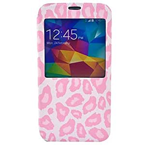 ZL Pink Leopard Cover Case Compatible with Samsung Galaxy S5 I9600