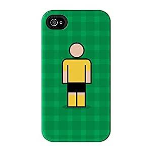 Cambridge Full Wrap High Quality 3D Printed Case for iPhone 4 / 4s by Blunt Football + FREE Crystal Clear Screen Protector