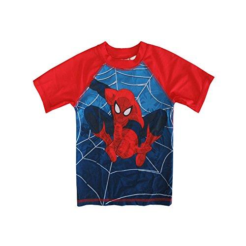 [marvels spider-man little boy character rashguard 4t blue red] (Blue Spiderman Suit)
