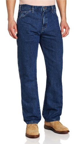 Dickies Men's Regular Straight Fit 6 Pocket Jean, Stone Washed, (Regular Fit Stone Washed Jean)