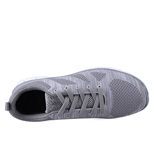 eyeones Mens Shadow Knit Sneaker Lightweight Running Shoes Walking Breathable Athletic Casual Shoes Grey J7DZIIt