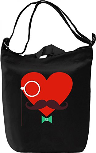 Hipster heart Borsa Giornaliera Canvas Canvas Day Bag  100% Premium Cotton Canvas  DTG Printing 
