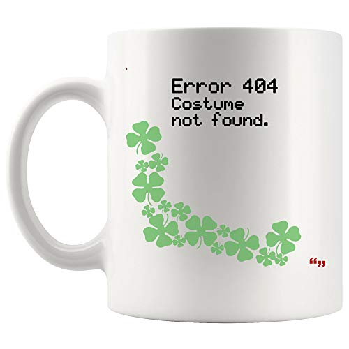 Funny Cup Coffee Mug for Men Women Costume Not Found Hilarious Joke Halloween Humorous Party -
