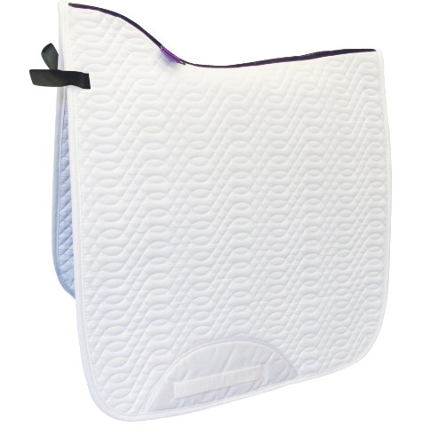 White Dressage Saddle Pad, X-Long, High Wither, Quality Designer Series