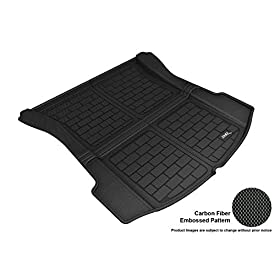 3D MAXpider M1TL0041309 Custom Fit All-Weather Kagu Series Cargo Liner Black Rear Tesla 3 Models