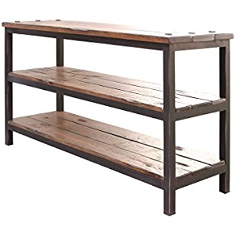 Crafters And Weavers Rustic Solid Wood Sofa Table Living Room Or Entry Way Console