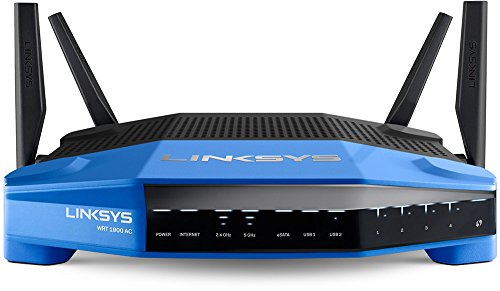 Linksys WRT AC1900 Dual-Band+ Wi-Fi Wireless Router with Gigabit & USB 3.0 Ports and eSATA, Smart Wi-Fi Enabled to Control Your Network from Anywhere (WRT1900AC-FFP)