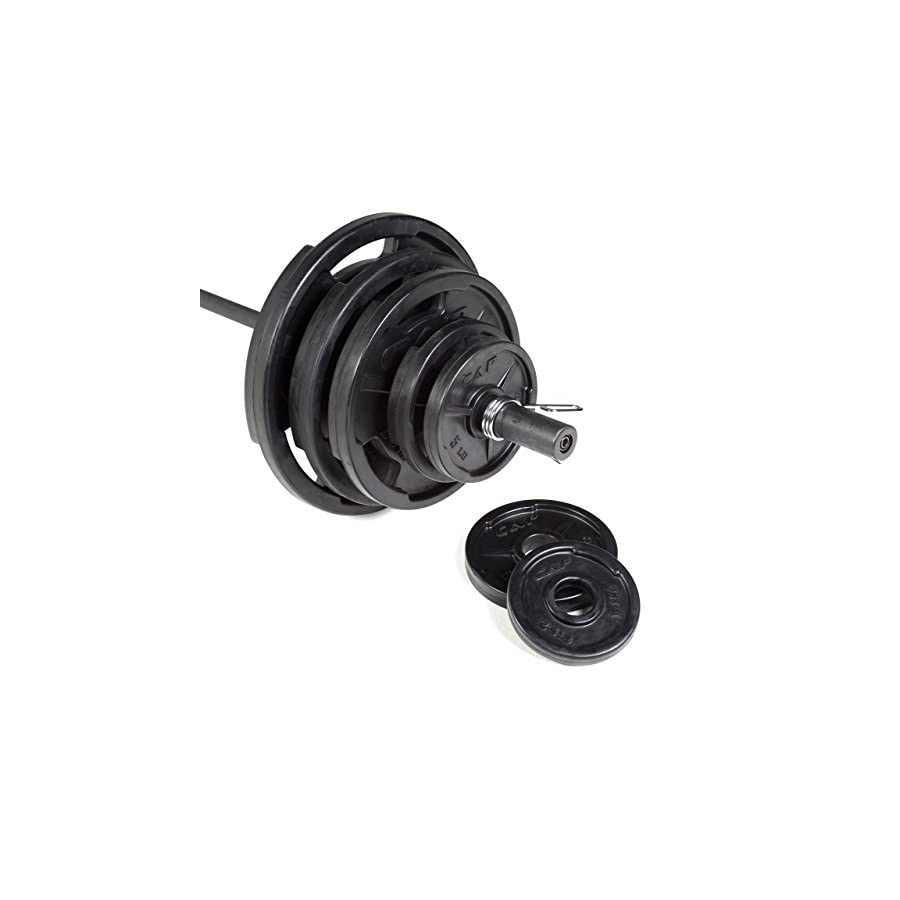 CAP Barbell 300 Pound Olympic Set (Includes 7 Ft Bar)