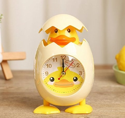 URTop 1PCS Fashion Cute Cartoon Chicken Egg Shell Desktop Clock Alarm Clock For Children Gift Home Decor Yellow