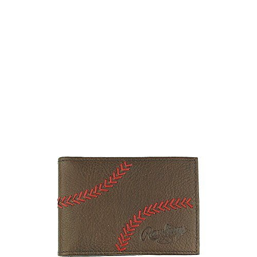 (Rawlings Men's Home Run Front Pocket Wallet, Brown, OS)