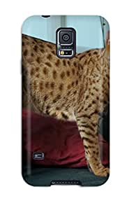 High End Case Cover Protector For Galaxy S5 Savannah Cats