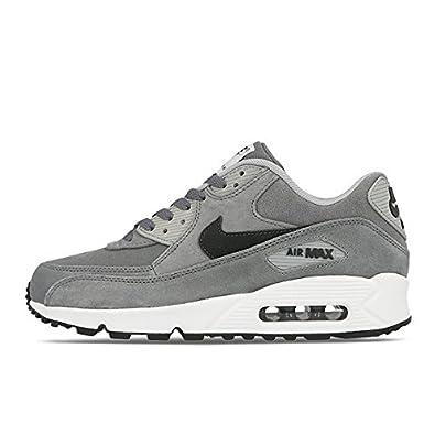 NIKE Air Max 90 LTR Premium 666578 002 Grey Leather Running