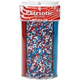 Dean Jacob's 4in1 Patriotic Sugar Sprinkles ~ 5.8 oz.