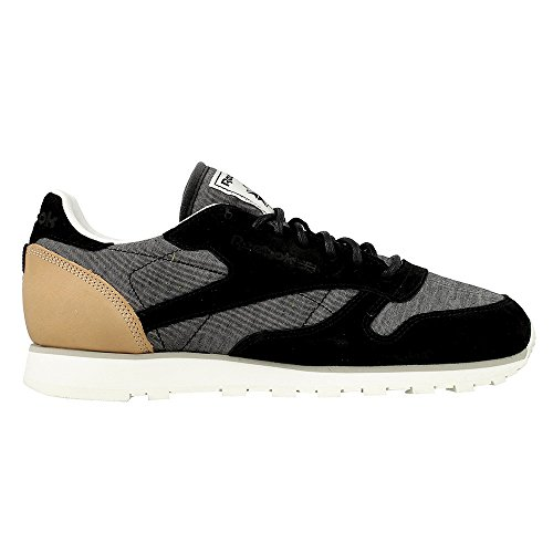 Fleck Color Size Gris Cl negro Reebok 42 0 Leather Aq9723 1xISfTn