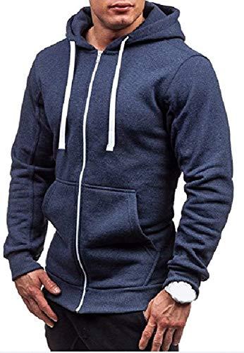 Confortables Sweats Zip Hoodie Sweat Hx Veste Cardigan Pour Tailles Hommes Vetement Pull À Fashion Navy Outwear Capuche qP04OwFq