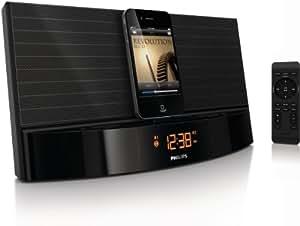 Philips AJ7041D - Radio despertador con base de conexión para iPod y iPhone, color negro