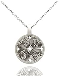 Cool Chinese I Ching Coin Silver Pewter Charm Necklace Pendant Jewelry