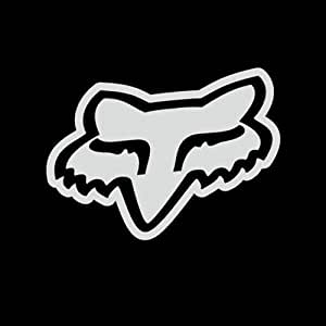 amazoncom fox racing fox logo solid face vinyl decal With kitchen colors with white cabinets with fox racing stickers