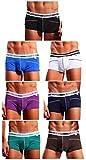 Mens Bamboo Underwear Soft Boxer Briefs Short Leg Pouch Trunks (Medium/29.1-31.5 inch, Multicolor(7-Pack))