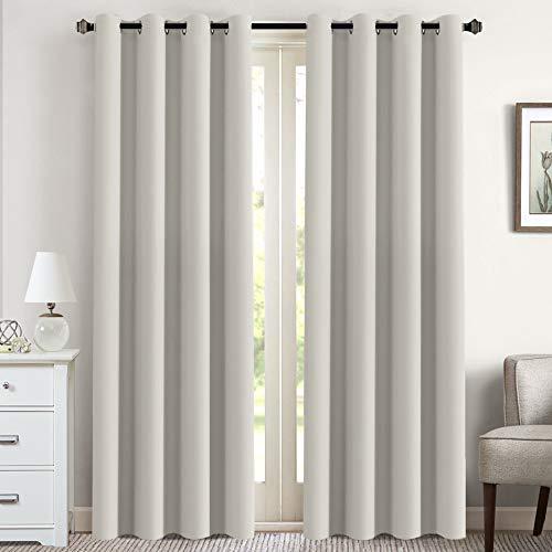 Flamingo P Elegant White Curtains Pair for