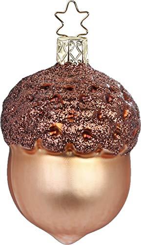 Inge-Glas Acorn Toffee Matte 10154S019 German Glass Christmas ()
