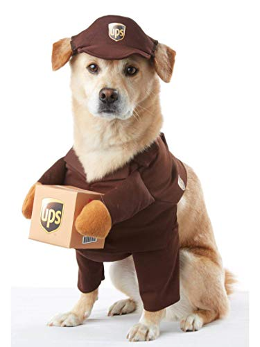 Football Player Halloween Costume Guys (Brown_UPS PAL Dog Costume)