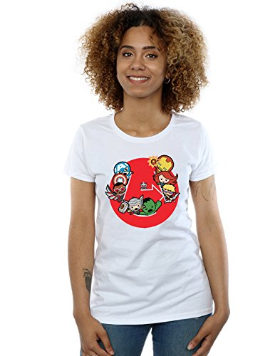 Blanc War Marvel shirt T Avengers Ready Kawaii Femme Steady SC44nRwBTq