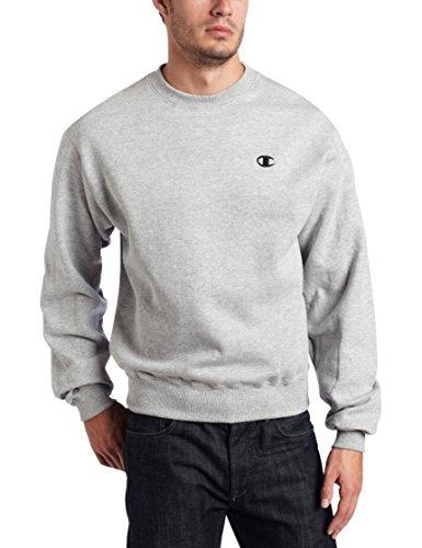 Champion Men's Pullover Eco Fleece Sweatshirt, Oxford Gray, Medium ()