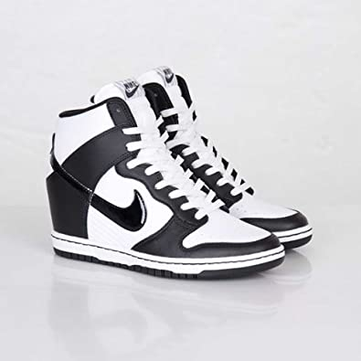 new style dad4c 1fa57 ... clearance nike womens dunk sky hi white black wedge trainer size 7 uk  75f3a 1f067