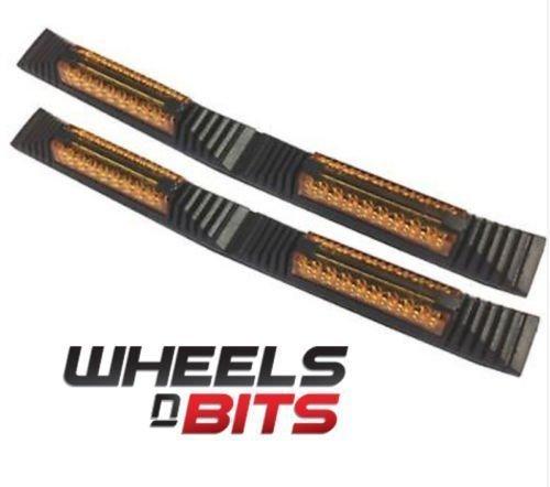 2x Door Edge Guard Strip Protectors With Amber Reflectors Wheels N Bits