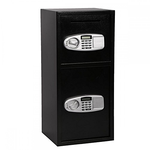 FDW Double Door Cash Office Security Lock Digital Safe Depository Drop Box