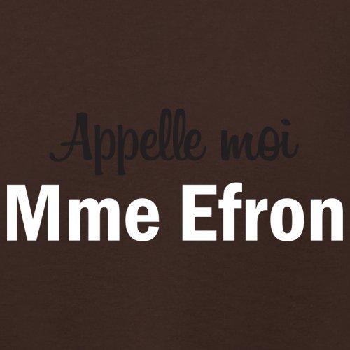 Apelle Moi Madame Efron - Femme T-Shirt - Maron Foncé - XXL