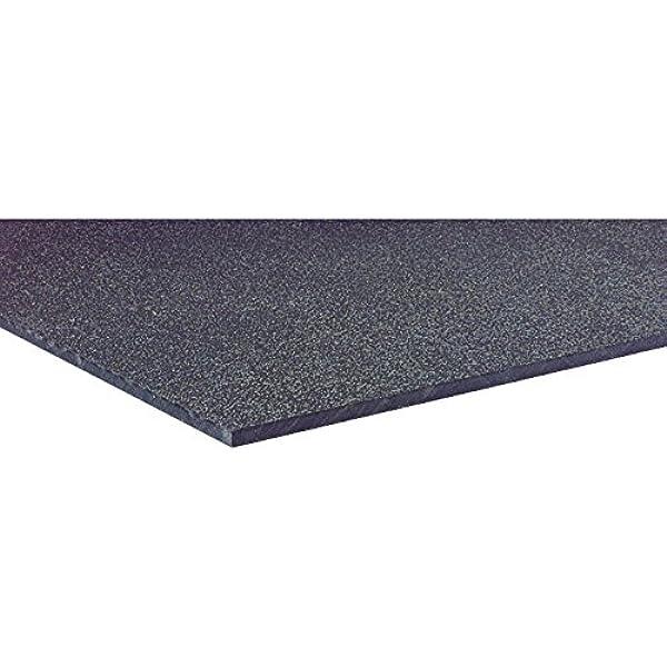 "x 14/"" x 48/"" Black ABS Sheet 0.375 Machine Grade 3//8 inch"