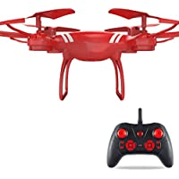 Eletty New KY101 2.4Ghz 6-Axis UAV Quadcopter Drone RC Hover RTF Without Camera USB (Red)