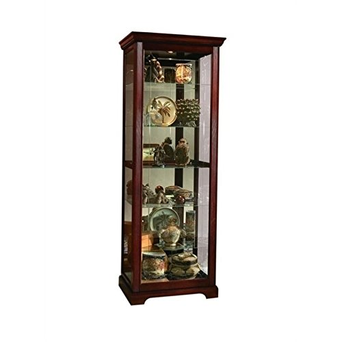 Pulaski Two Way Sliding Door Curio, 30 by 20 by 80-Inch, Victorian Cherry Finish, (Solid Wood Curio Cabinet)