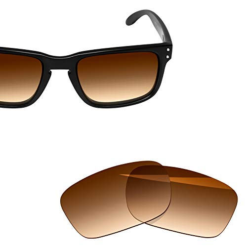- BlazerBuck Anti-salt Polarized Replacement Lenses for Oakley Holbrook OO9102 - Brown Gradient