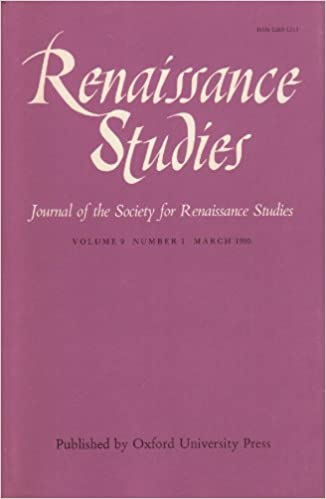 renaissance studies journal of the society for renaissance studies volume 9 number 1 march 1995