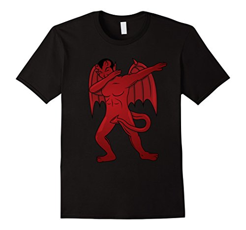 Mens Dabbing Devil T-Shirt - Dab Dance Satan Halloween Costume Medium Black