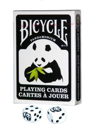 Bicycle Panda Playing Cards with Pair of Koplow Panda -